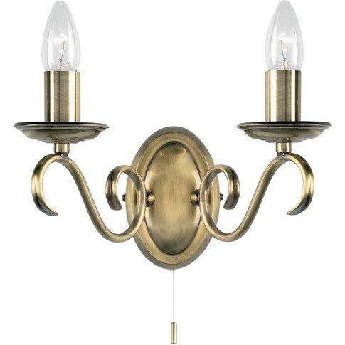 Gallery Direct Bernice Wall Light Antique Brass