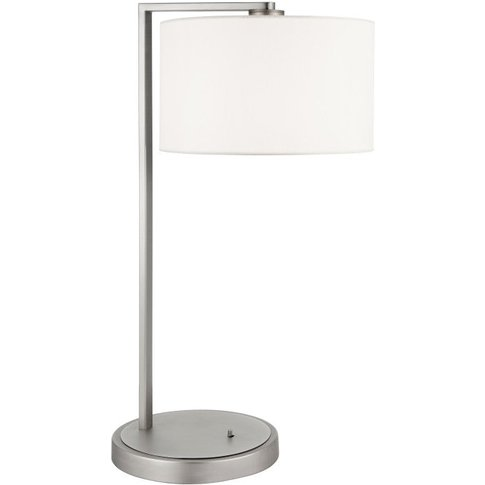 Gallery Direct Daley Table Lamp Nickel & White Faux ...