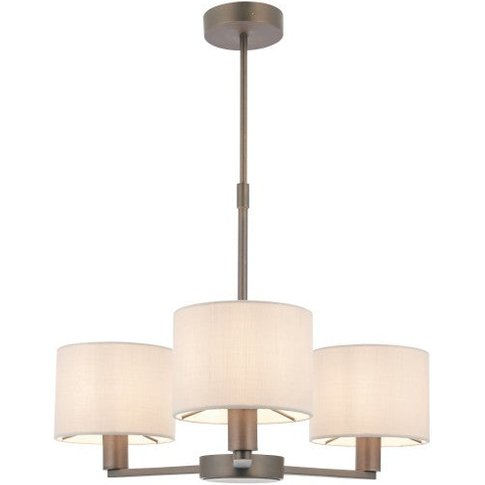 Gallery Direct Daley 3 Antique Bronze Pendant Light Small