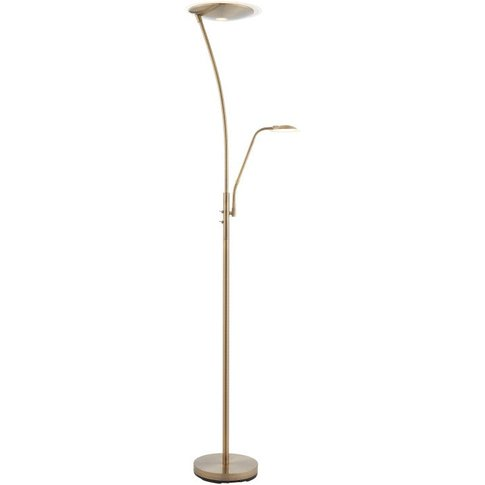 Gallery Direct Alassio Floor Lamp Antique Brass
