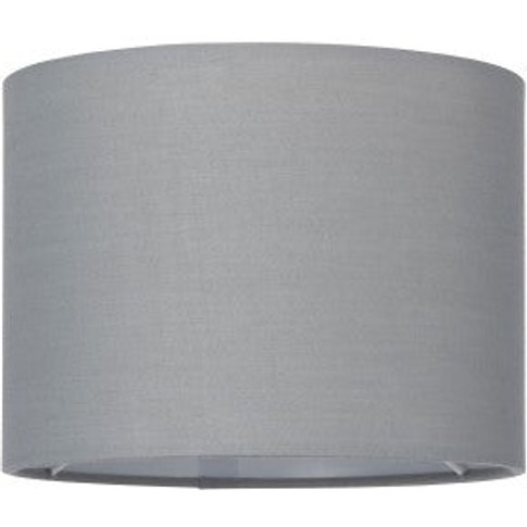 Gallery Direct Cylinder Small Grey Lamp Shade