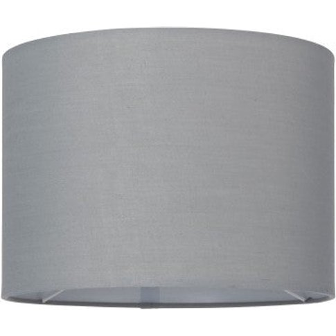 Gallery Direct Cylinder Medium Grey Lamp Shade