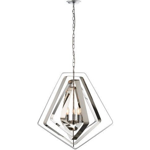 Gallery Direct Riona Pendant Light / Silver / 3.0