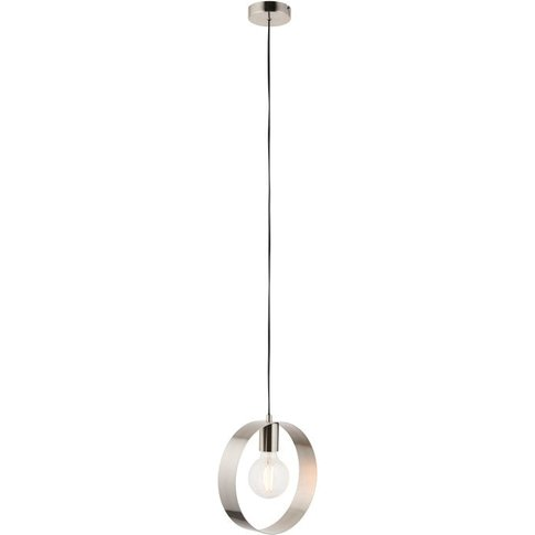 Gallery Direct Hoop Pendant Light In Brushed Nickel