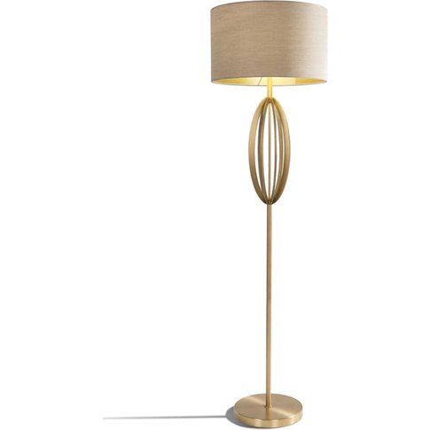 Rv Astley Olive Floor Lamp In Antique Brass Finish