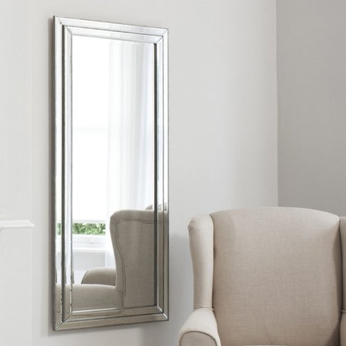 Gallery Direct Chambery Leaner Mirror Pewter