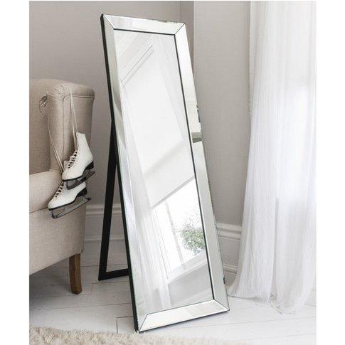 Gallery Direct Luna Cheval Mirror / Silver