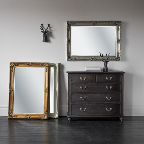 Gallery Direct Abbey Rectangle Mirror Silver