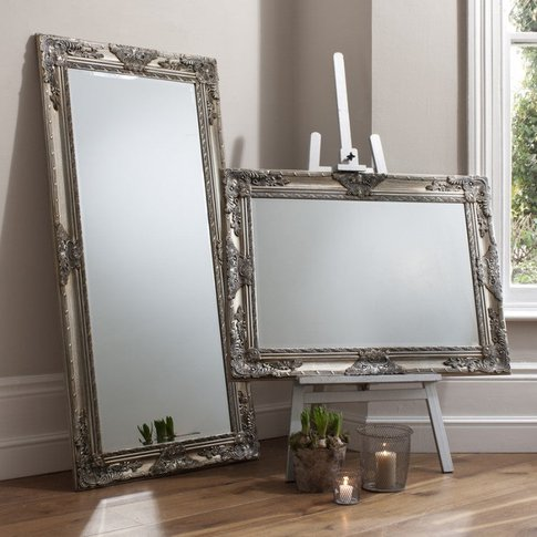 Gallery Direct Hampshire Leaner Mirror Silver
