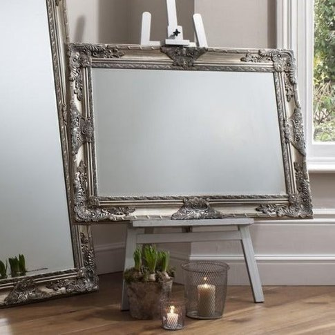 Gallery Direct Hampshire Rectangle Mirror Silver