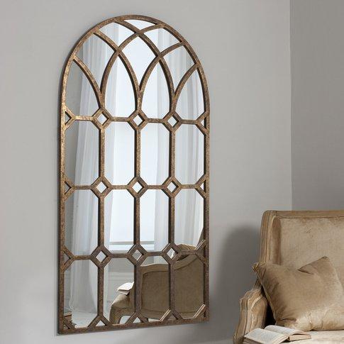 Gallery Direct Khadra Gold Arched Window Pane Mirror