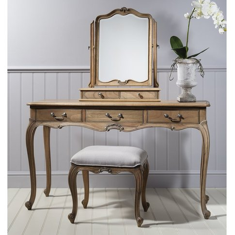Gallery Direct Chic Dressing Table In Weathered Wood