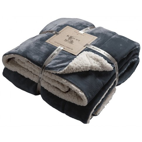 Gallery Direct Sherpa Throw / Red