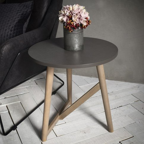 Hudson Living Hamar Round Side Table Grey