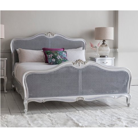 Gallery Direct Chic Cane King Size Bed In Silver