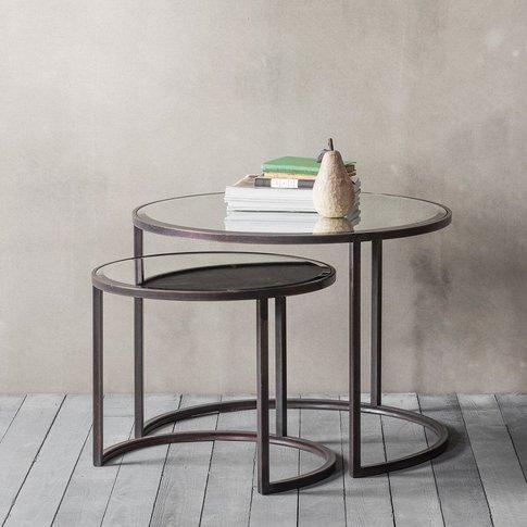 Hudson Living Argyle Coffee Table Nest Of 2