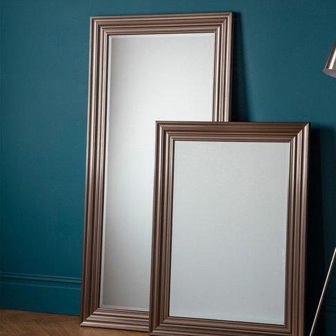 Gallery Direct Erskine Leaner Pewter Mirror