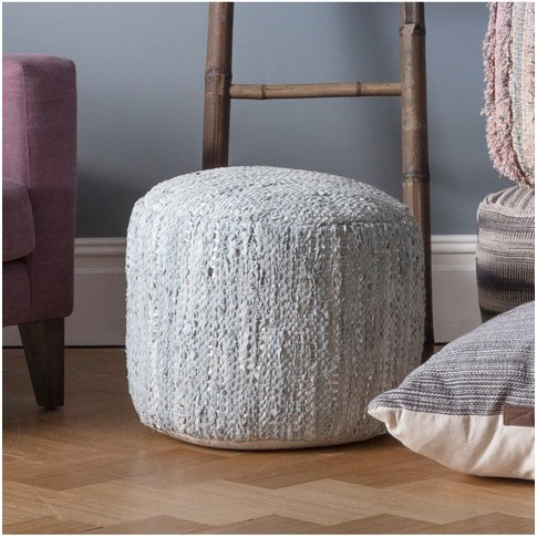 Gallery Direct Galaxite Pouffe In Stone