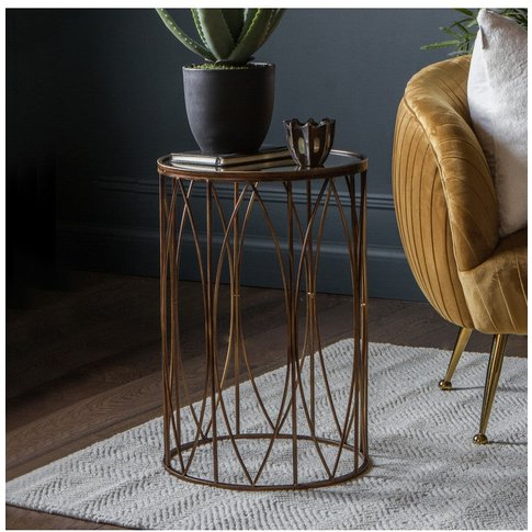 Gallery Direct Highgate Side Table In Antique Gold