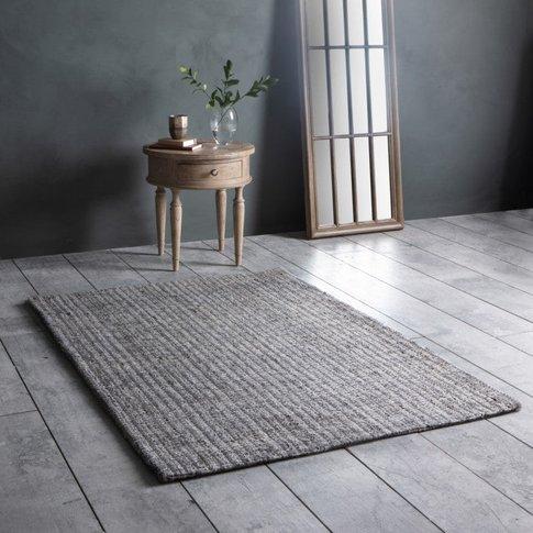 Gallery Direct Arizona Jute Textured Rug In Silver/Grey