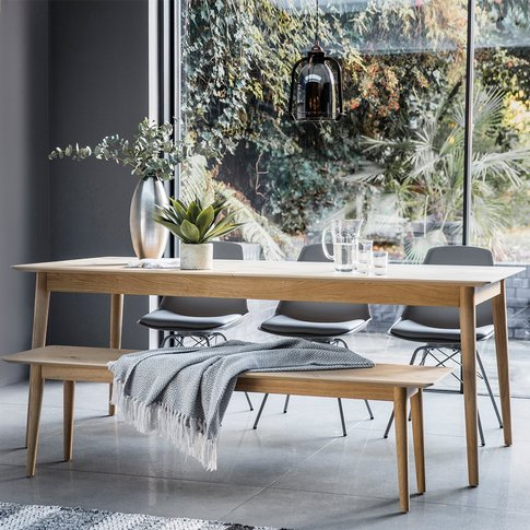 Gallery Direct Milano Extending Oak Scandi Dining Table