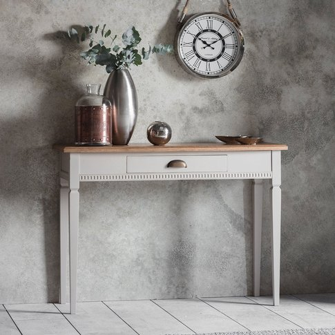 Gallery Direct Bronte 1 Drawer Console Table In Taupe