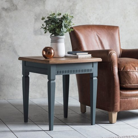 Gallery Direct Bronte Side Table In Storm Blue