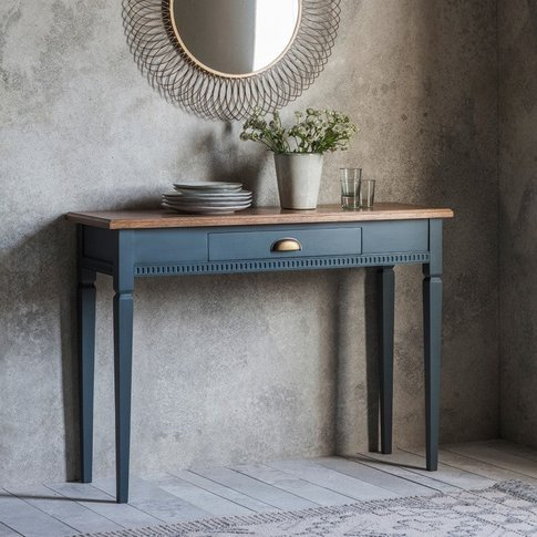 Gallery Direct Bronte 1 Drawer Console Table In Stor...