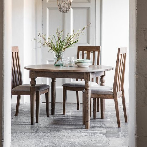 Gallery Cookham Round Extendable Dining Table In Oak