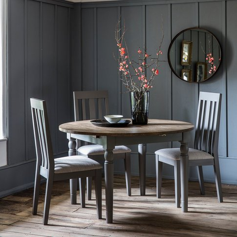 Gallery Cookham Round Extendable Dining Table In Grey