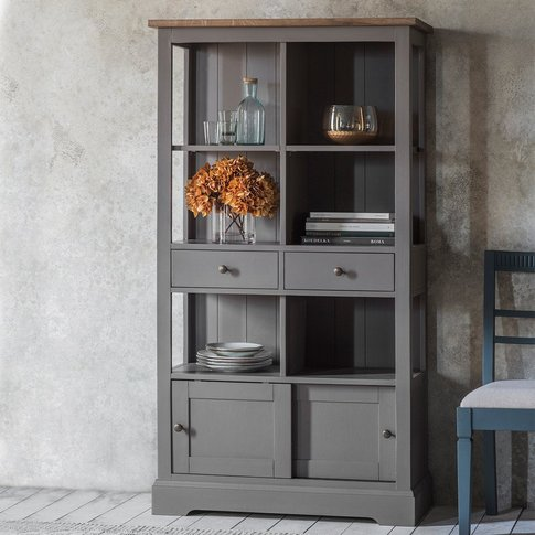Gallery Direct Cookham Rustic Bookcase In Grey