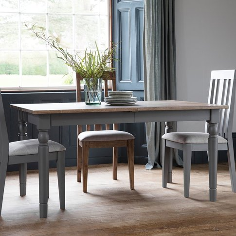 Gallery Cookham Extendable Dining Table In Grey