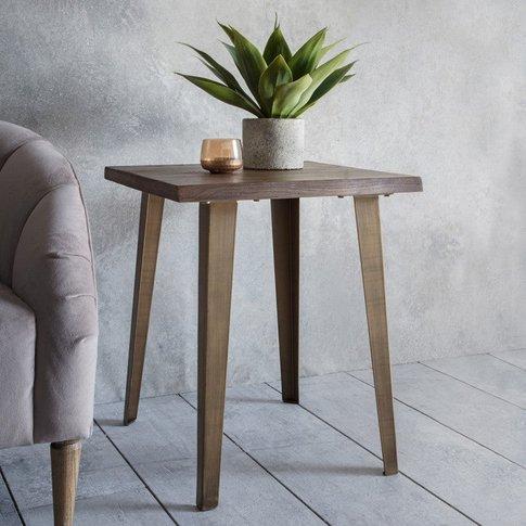 Gallery Direct Foundry Side Table Oak