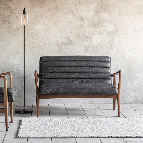 Gallery Direct Datsun 2 Seater Sofa Antique Ebony