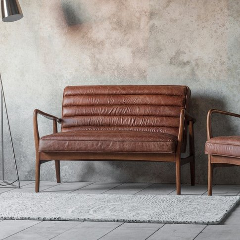 Gallery Direct Datsun 2 Seater Sofa Vintage Brown Le...