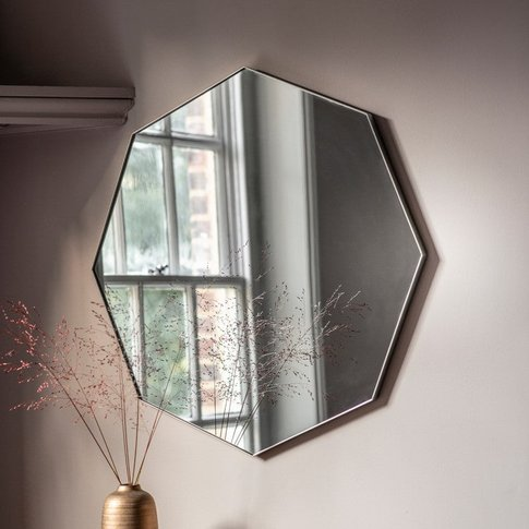 Gallery Direct Bowie Octagon Mirror Silver