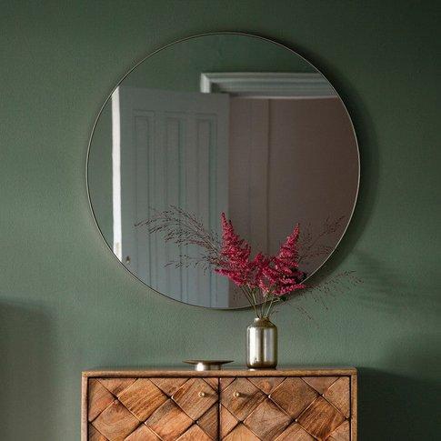 Gallery Direct Bowie Round Mirror Silver
