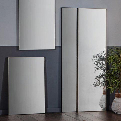 Gallery Direct Hurston Leaner Mirror / Black