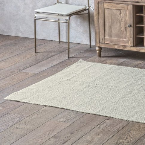 Gallery Direct Cotton Woven Rug Chevron Oatmeal