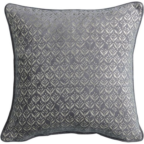 Gallery Direct Metallic Printed Cushion / Grey
