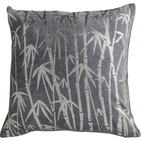 Gallery Direct Bamboo Palm Metallic Cushion Grey