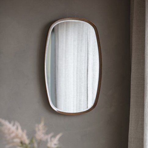 Gallery Direct Keaton Oval Walnut Mirror