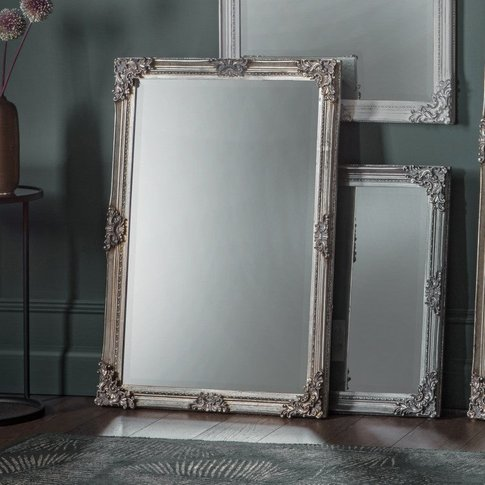 Gallery Direct Fiennes Rectangle Mirror Silver