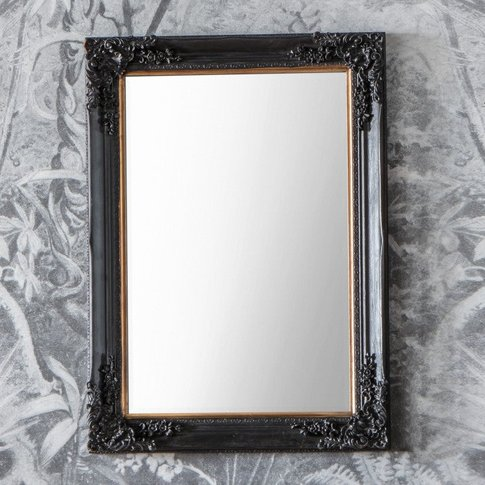 Gallery Direct Harrelson Mirror Antique Black