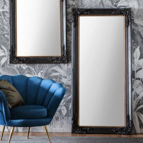 Gallery Direct Harrelson Leaner Mirror Antique Black