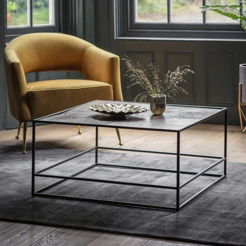 Gallery Direct Hadston Coffee Table Antique Gold