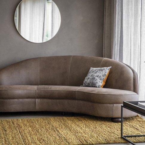 Gallery Direct Sanza Sofa Granite Leather