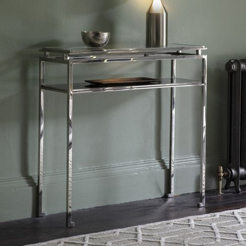 Gallery Direct Cosenza Console Table Silver