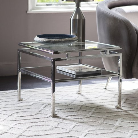 Gallery Direct Cosenza Side Table Silver