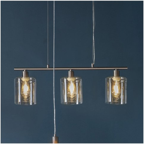 Gallery Direct Chicago 3 Pendant Light Brushed Nickel